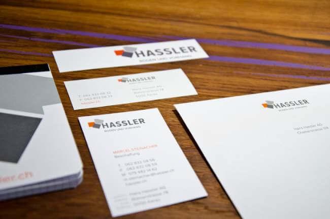 Kontaktdaten Visitenkarte Hassler AG